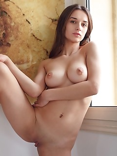 Gloria sol gloria sol sensually stripping off her matching lingerie to reveal her gorgeous breasts and shaved pussy