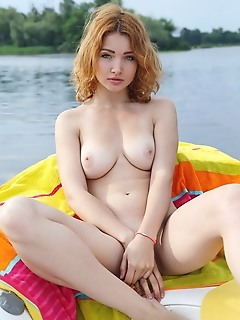 Kika kika shows off her delectable body and sweet pussy outdoors.