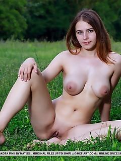 Dakota pink top model dakota pink poses in her bikini before showcasing her puffy breasts and shaved snatch