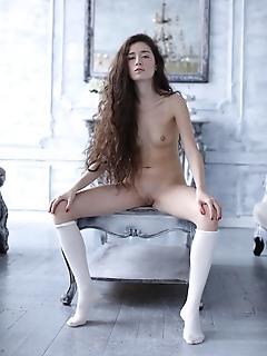 Slender cutie, small tits