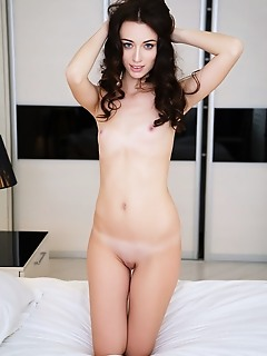 Zsanett tormay zsannett tormay slowly strips her white lace lingerie before showing off her sexy body