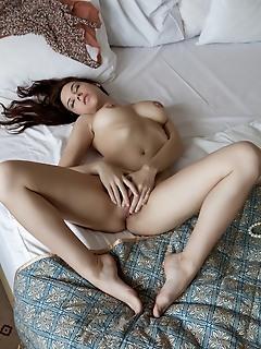 Girl spreading legs