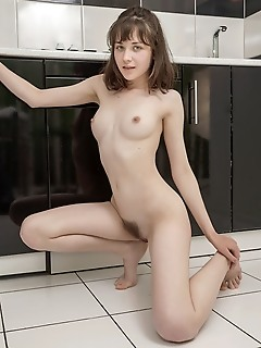 Naked on the counter
