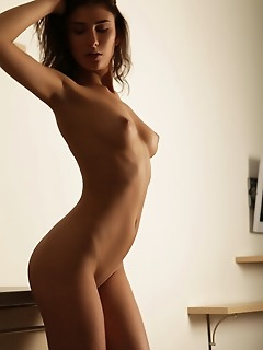 Rise sultry rise sensually strips her sexy lingerie in front of the camera.